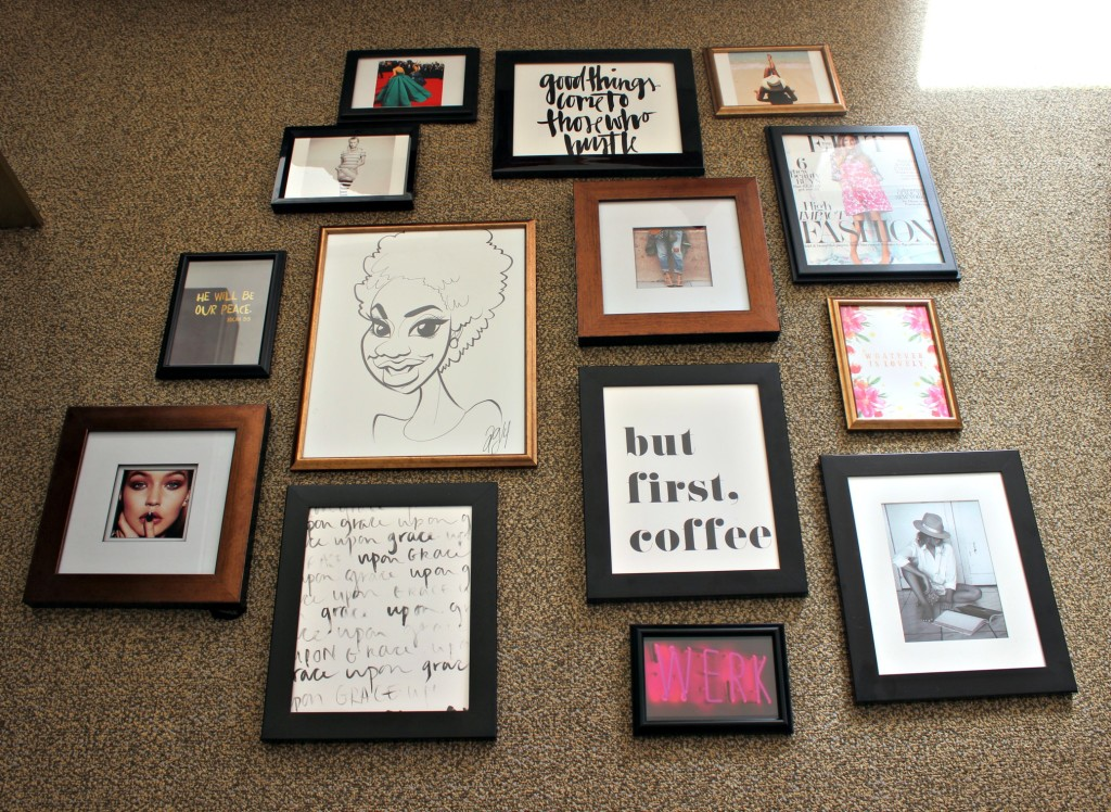 gallery wall DIY layout